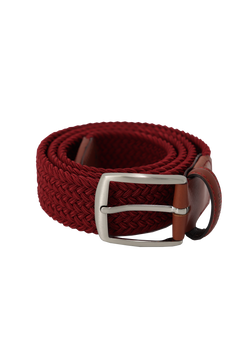 Dark Red Woven Belt