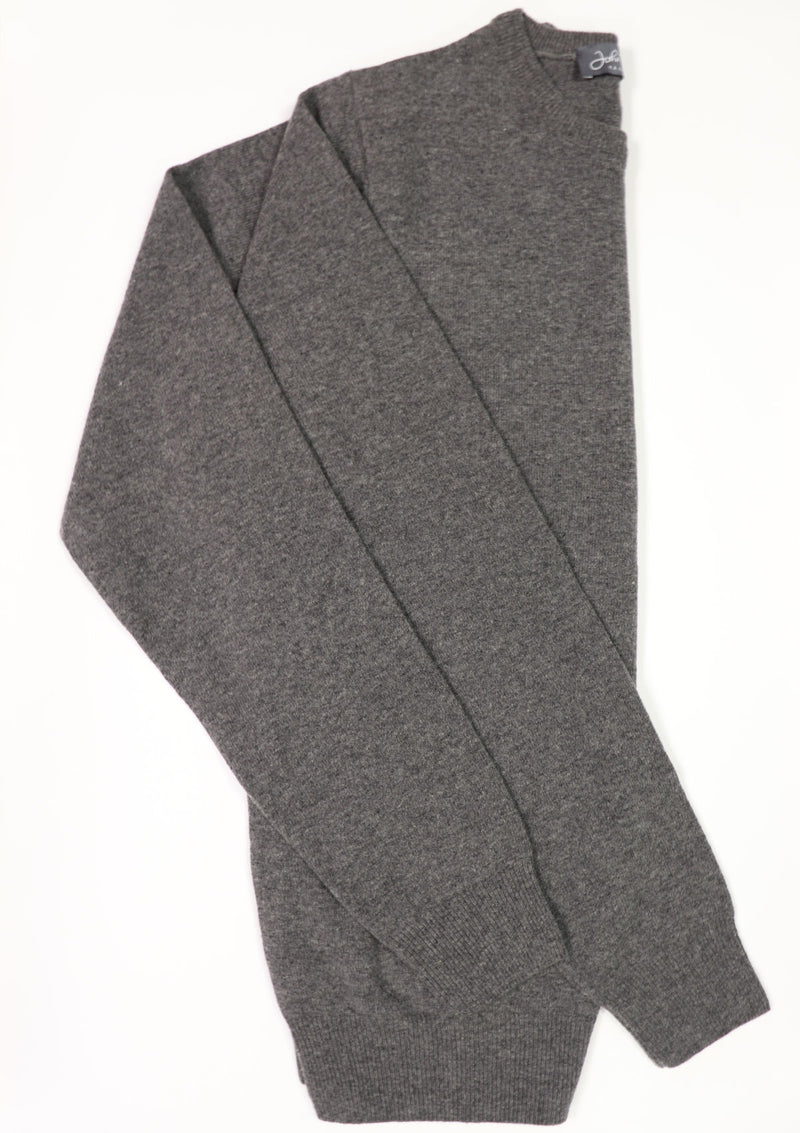 Grey Wool Crew Neck Jumper