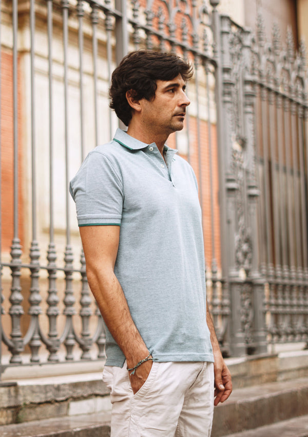 Light Green Piqué Polo Shirt