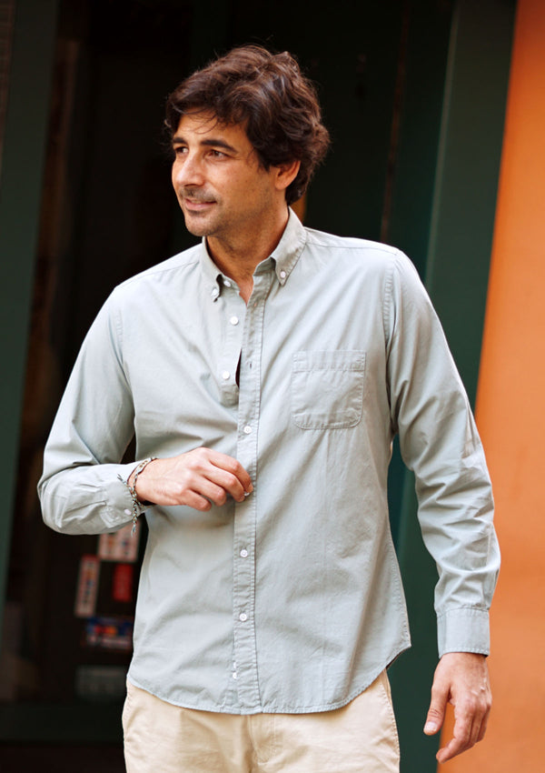 Light Green Poplin Shirt