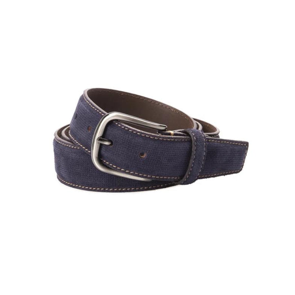 Navy Suede Casual Belt