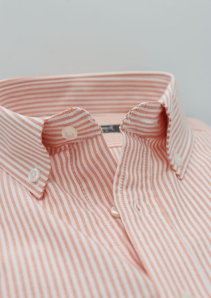 Orange Striped Oxford Shirt