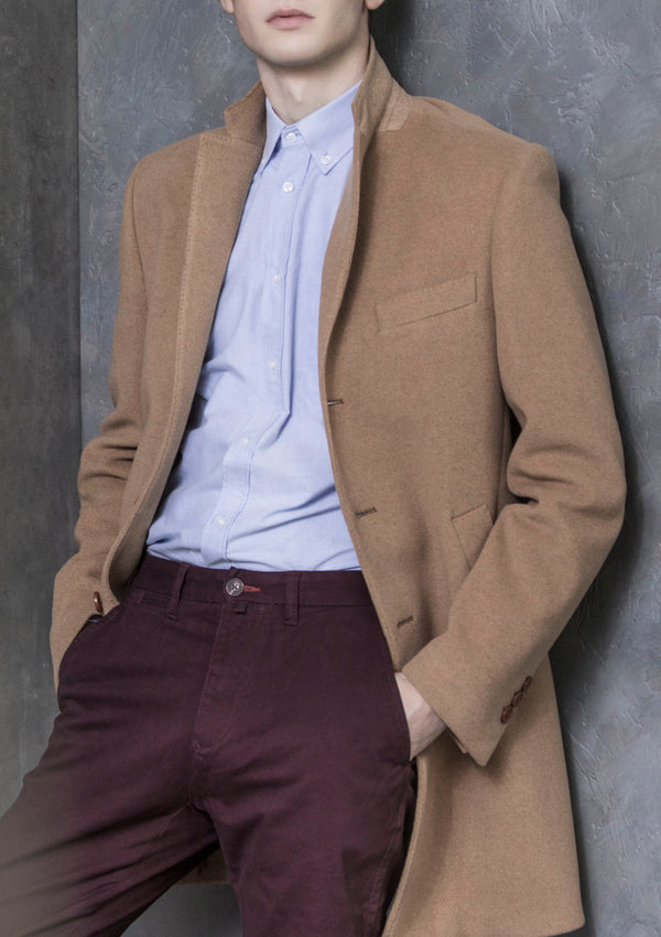 Camel Wool & Cashmere Overcoat