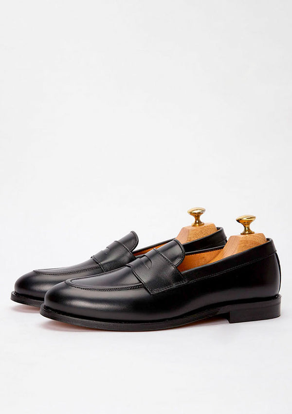 The Penny Loafer - Black Leather