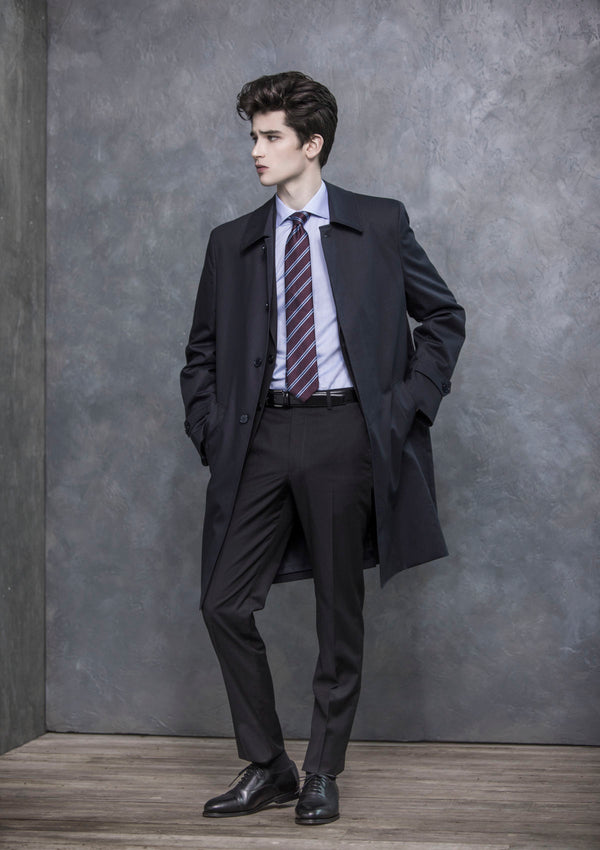 Charcoal Plain Wool Suit