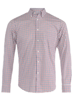 Red & Blue Check Button-Down Shirt