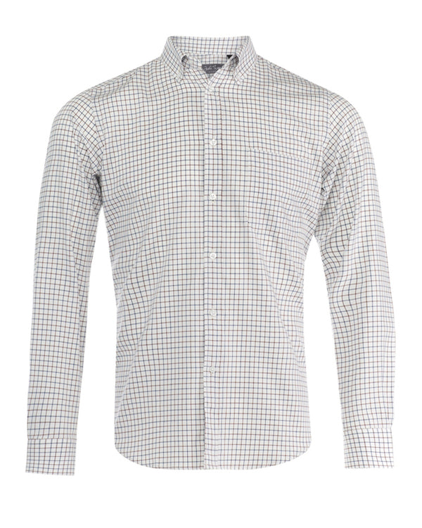 White Tattersall Check Shirt
