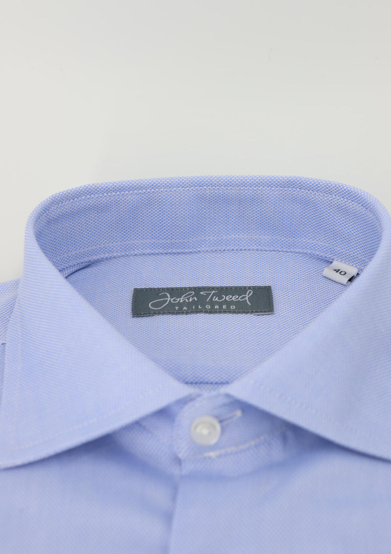 Blue Pinpoint Single Cuff Formal Shirt
