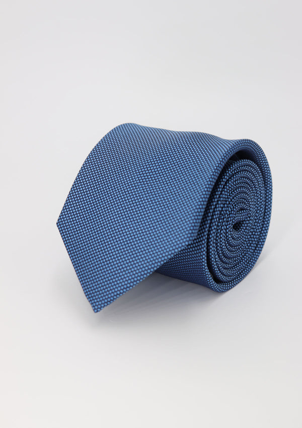 Dark Blue Plain Silk Tie