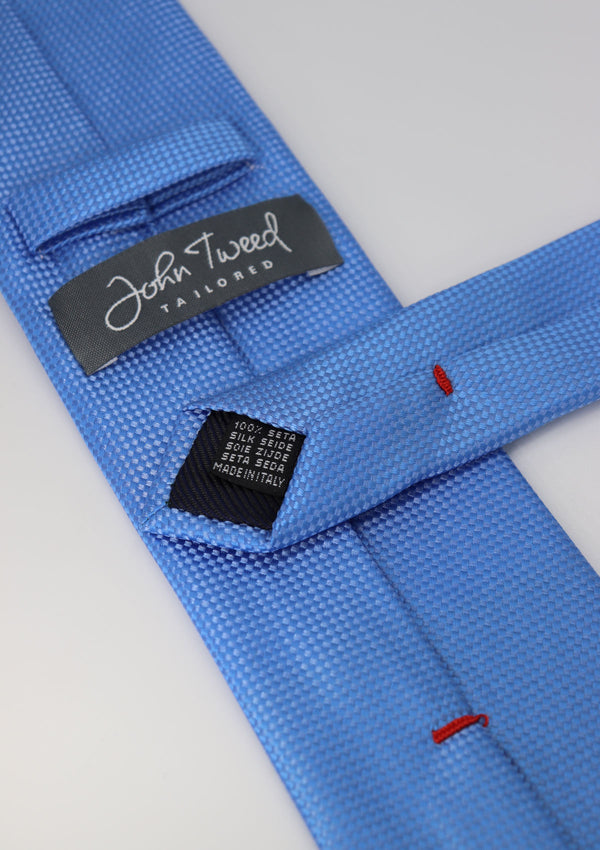 Bright Blue Plain Silk Tie