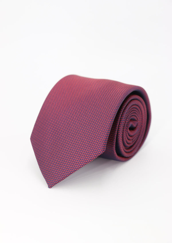 Dark Red Plain Silk Tie
