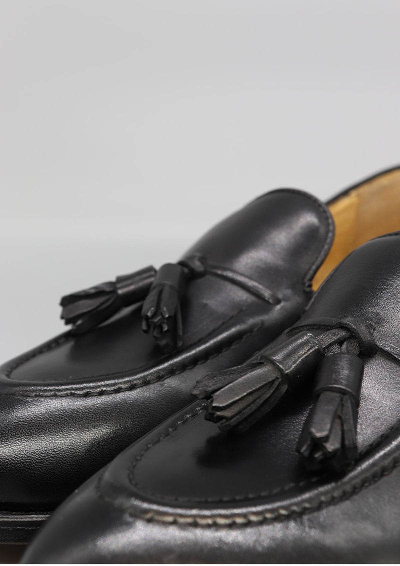 The Tassel Loafer - Black Leather