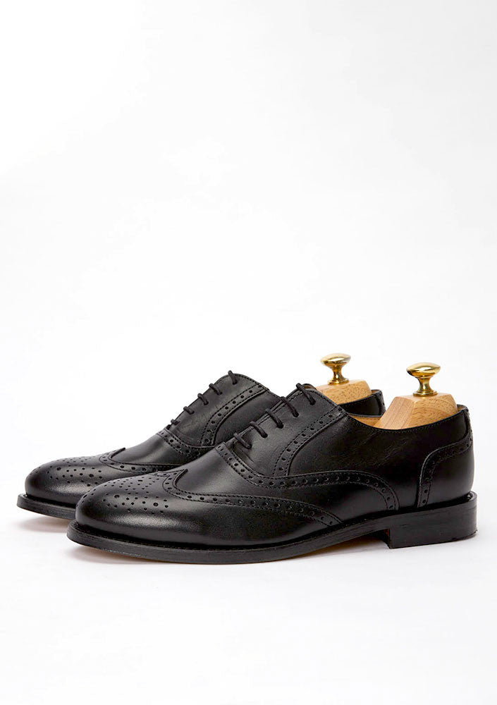 The Brogue - Black Leather