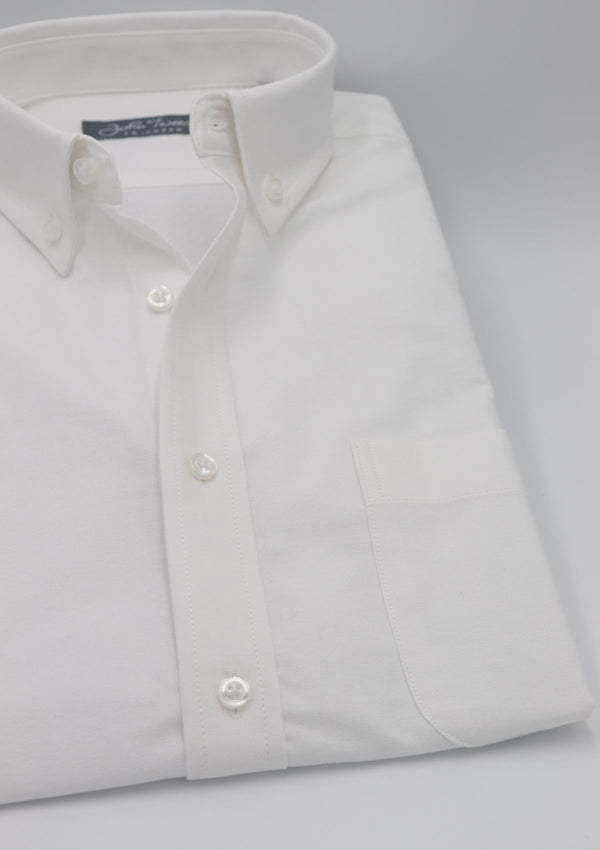 White Oxford Button-Down Shirt