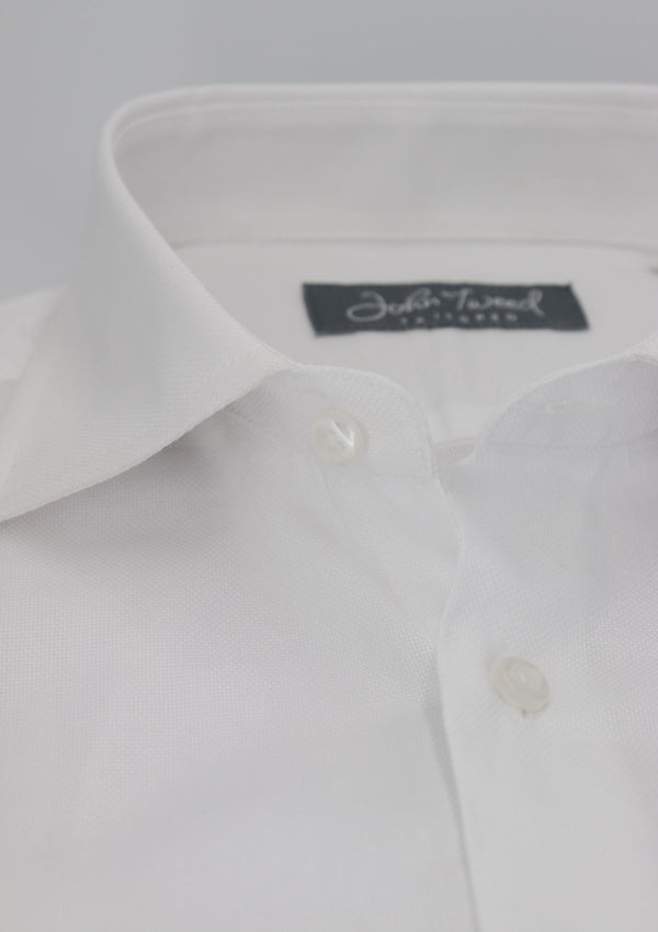 White Pinpoint Single Cuff Formal Shirt