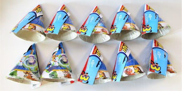 Pack of 60 Disney Toy Story Cone Party Hats Kids Birthday - Woody Buzz Lightyear