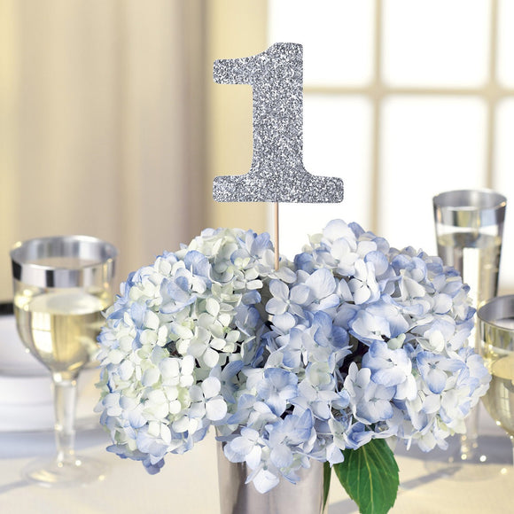 Silver Glitter 1 - 20 Table Numbers - Wedding Party Decorations
