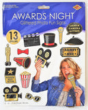13 Piece Awards Night Glittered Photo Fun Sign - Hollywood Party Decorations