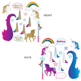 16 Piece Unicorn Glittered Photo Fun Signs - Fantasy Cutout Party Decorations