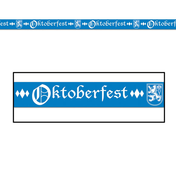 Oktoberfest Party Banner Tape - 20 ft - German Beer Festival Party Decorations