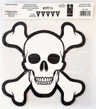 3-D Skull and Crossbones Centerpiece - 25cm Pirate / Halloween Party Decorations
