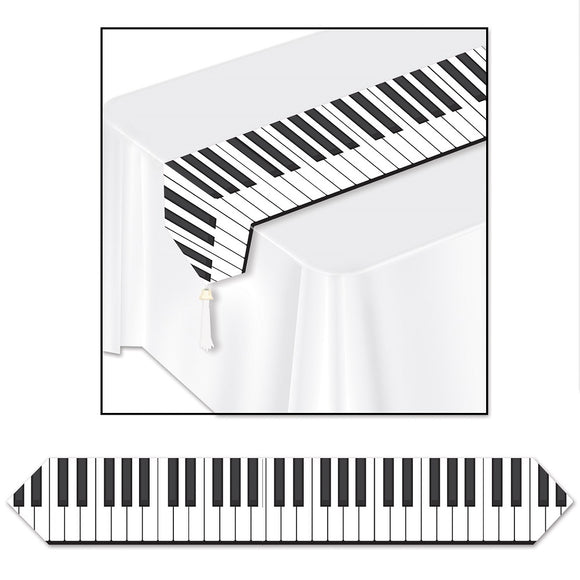 6ft Piano Keyboard Table Runner - Musical Party Tableware