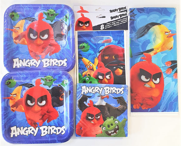 Angry Birds Movie Party Tableware Pack for 16 People - Plates Napkins etc