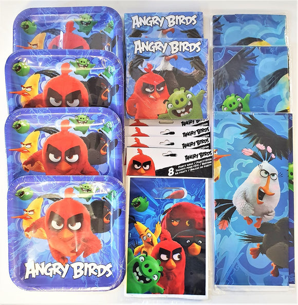 Angry Birds Movie Party Tableware Pack for 30 People - Plates Napkins etc