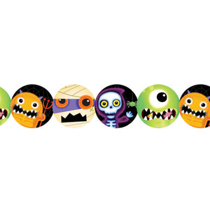 Boo Crew Monster Printed Paper Garlands - 2.4 m - Halloween Hanging Decorations
