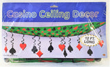 Card Suit Casino Ceiling Decoration - 3.7m Long Casino Hanging Party Decorations