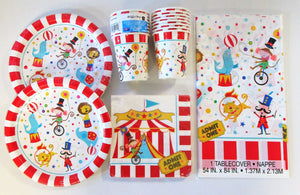 Circus Carnival Party Tableware Pack for 16 People - Plates Cups Napkins etc