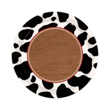 32 Cow Print Paper Plates - 17.8 cm in diameter.