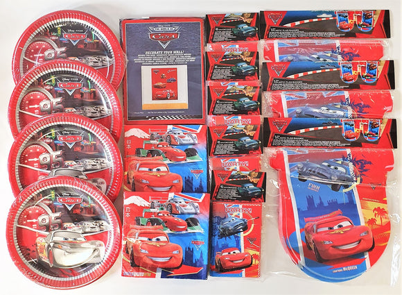 Disney Cars Party Pack for 30 Children - Complete Tableware & Decorations Set