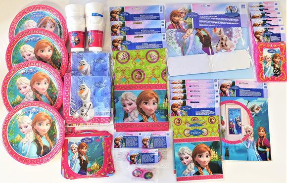 Disney Frozen Bumper Party Pack for 30 People - Party Tableware and Decorations