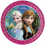 "16 Disney Frozen Paper Plates - 23 cm (9"") in diameter."