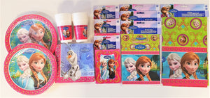 Disney Frozen Party Pack for 16 People - Plates Cups Napkins Invites etc