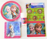 Disney Frozen Party Tableware pack for 8 People - Plates Cups Napkins etc