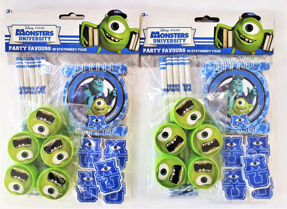 Monsters University Stationary Pack for 10 people - Disney Party Bag Fillers
