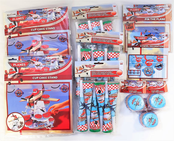Disney Pixar Planes Party Tableware and Decorations Pack - Flying Birthday Set