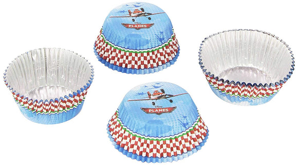 Pack of 24 Disney Planes Foil Lined Cup Cake Cases - Party Decorations
