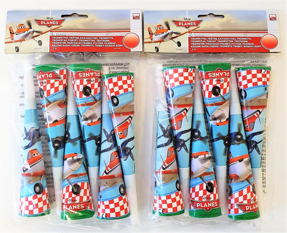 Pack of 12 Disney Planes Party Horns - Disney Favours Party Bag Fillers