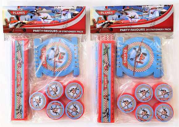 Disney Planes Stationary Party Favours Pack for 10 People - Party Bag Fillers