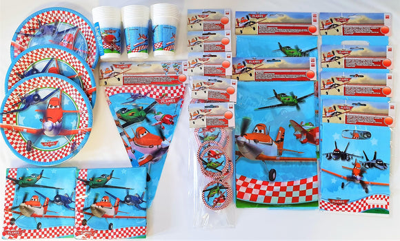 Disney Planes Party Tableware Pack for 24 People - Plates Cups Napkins etc
