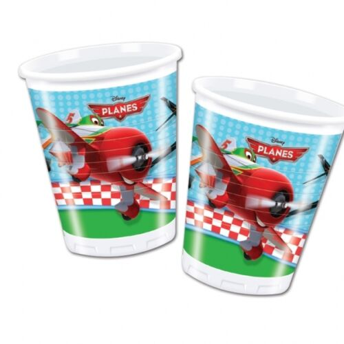 Pack of 8 Disney Pixar Planes 200 ml Plastic Cups - Disposable Party Tableware