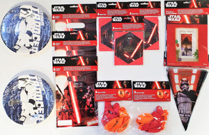 Disney Star Wars Party Pack for 16 People - Party Tableware and Decorations