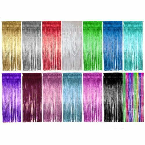 Shimmer Door Curtain & Fringe Garlands All Colours and Packs / Foil Curtains - Hanging Party Decorations