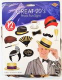 12 Piece Great 20's Photo Fun Signs - 1920's cutout Party Decorations