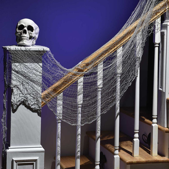 Grey Creepy Cheesecloth Draping Kit - 1.5 m - Halloween Party Decorations