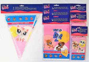Littlest Pet Shop Party Pack for 18 People - Invites Party Bags and Flag Banner