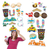 12 Piece Luau Photo Fun Signs - Tropical Cutout Party Decorations